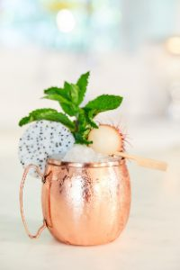 Dragon Fruit & Rambutan Moscow Mule