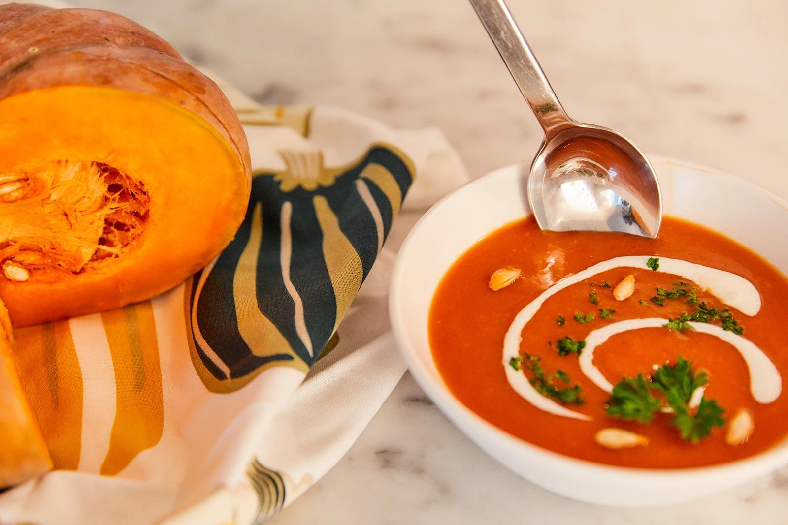 Creamy roasted pumpkin soup recipe