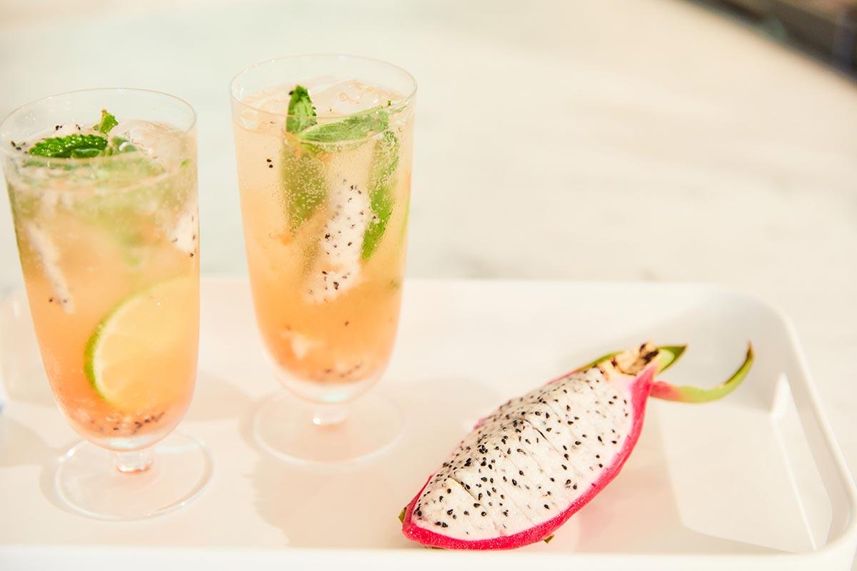 Dragon fruit mojito cocktail recipe