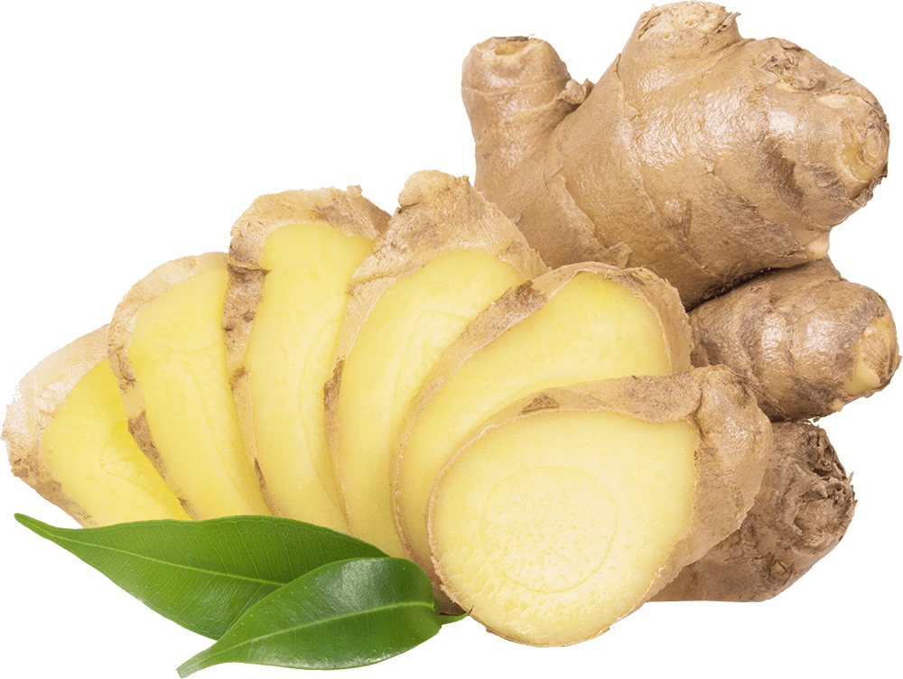 Ginger root cut in pieces