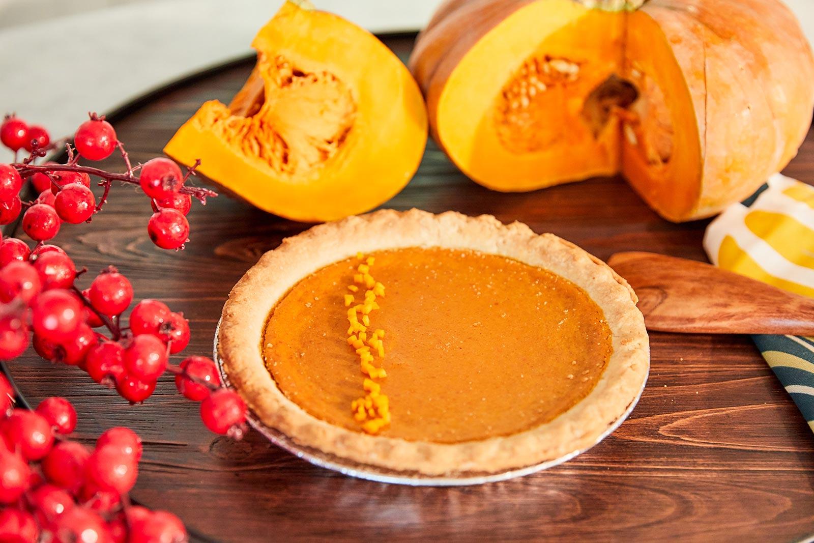 Seasonal fairytale pumpkin pie dessert recipe