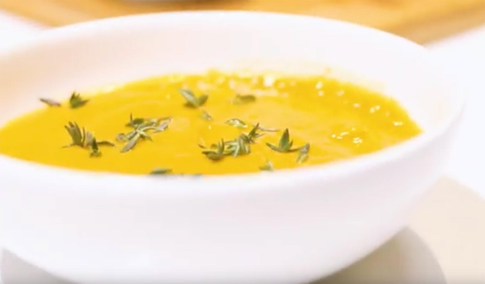creamy pumpkin soup bowl recipe