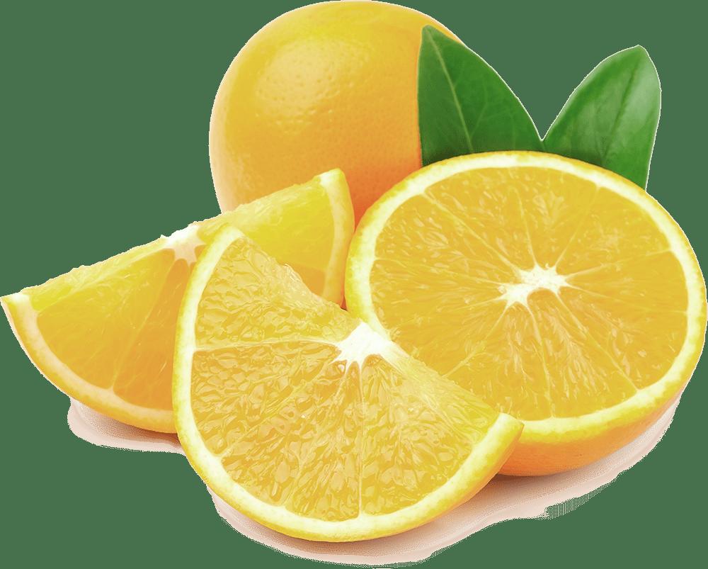 Sour orange cut in pieces