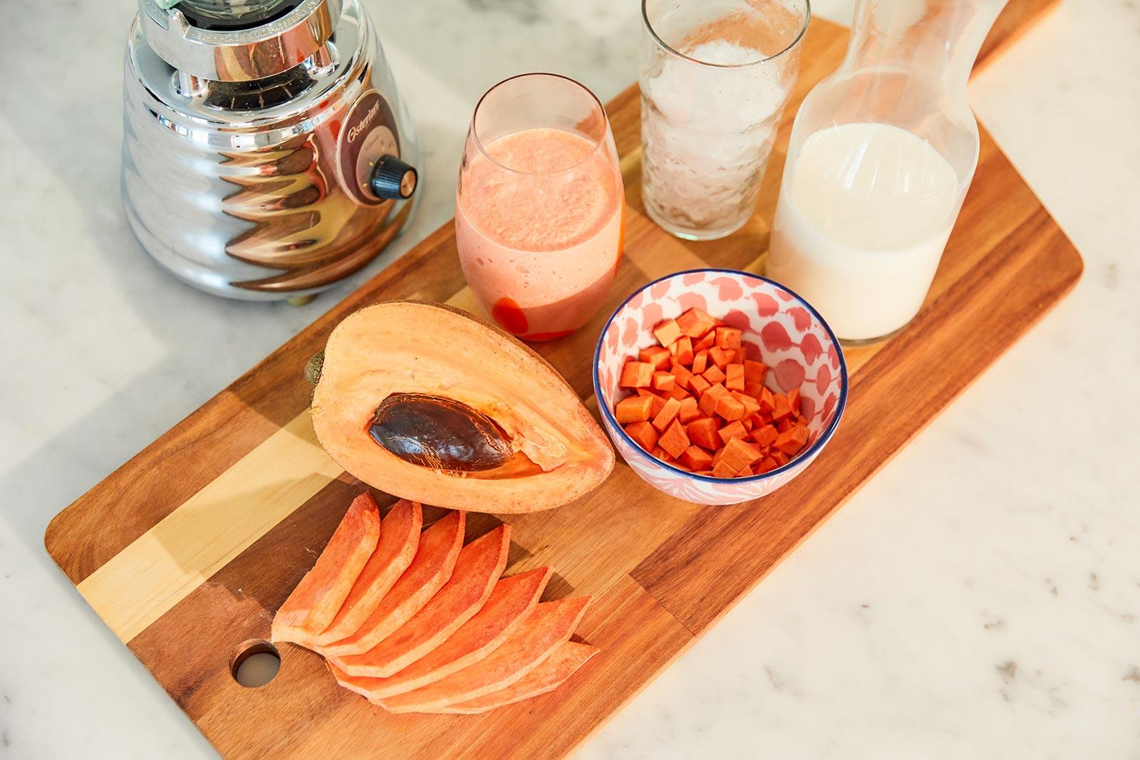 Traditional mamey smoothie recipe