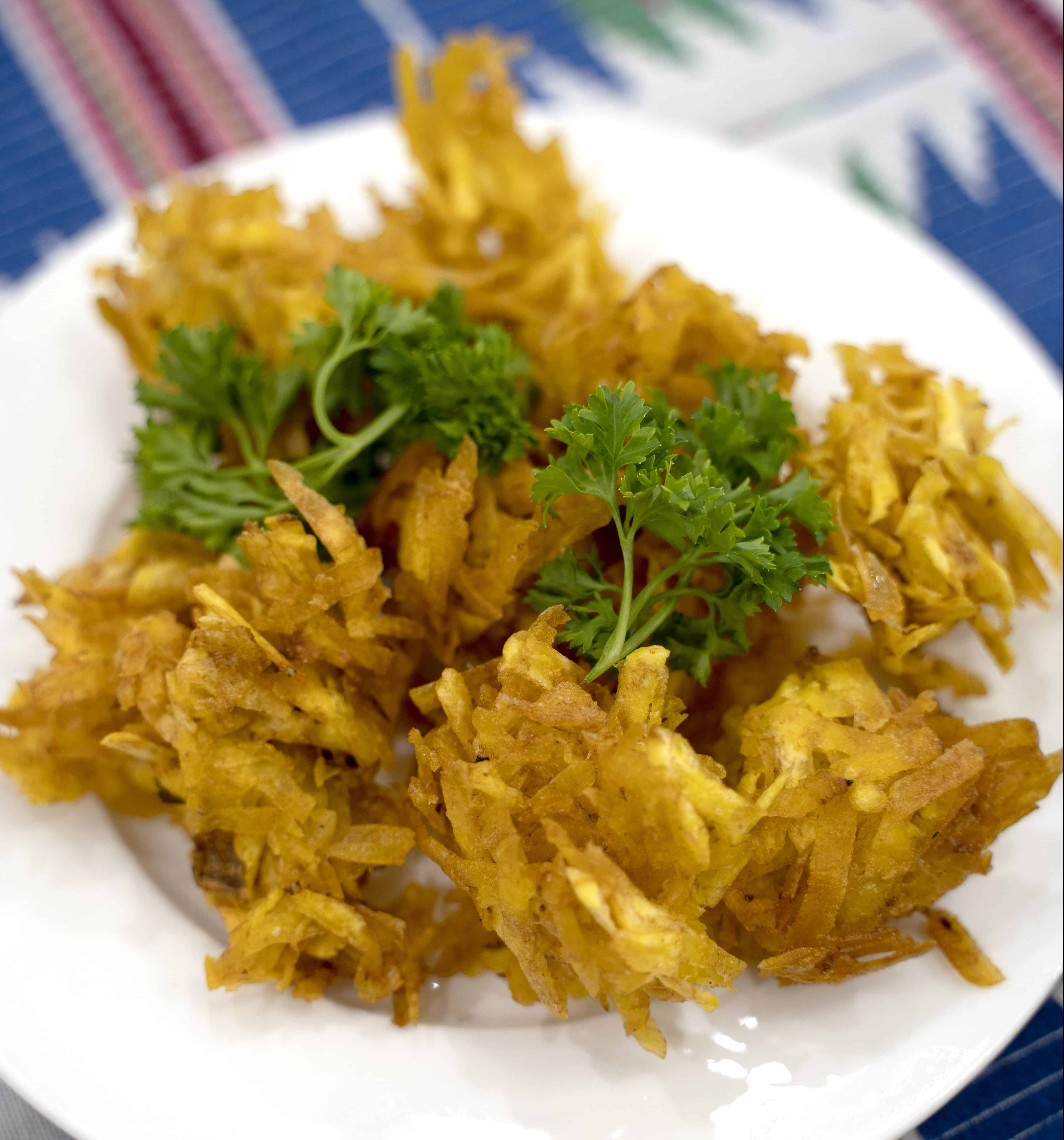 Tropical green plantain fritter recipe